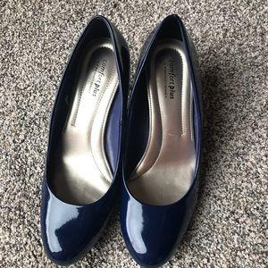 Comfort Plus Navy Blue Heels Size 9 1/2 Wide